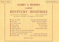 Radiolympia, Thursday 31 August 1939, Kentucky Minstrels show starring Adelaide Hall