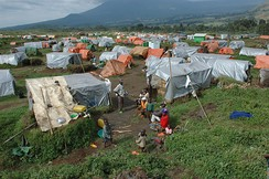 Refugee camp in the Democratic Republic of the Congo