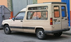 The Renault Express, a panel van version of the second generation Renault 5