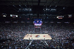 Interior during a Trail Blazers game.