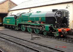 Preserved Lord Nelson class 850 Lord Nelson.