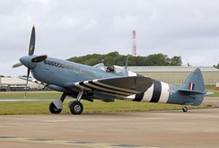This Spitfire PR Mk XI (PL965) was built at RAF Aldermaston in southern England.