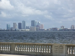 Bayshore Boulevard with Downtown Tampa in the background