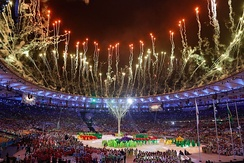 2016 Summer Olympics closing ceremony at Maracanã Stadium