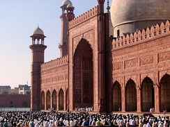 Eid prayer at the Badshahi Mosque