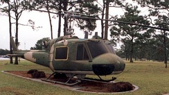 UH-1P on display at Hurlburt Field.