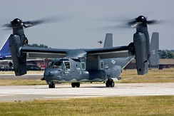 A United States Air Force CV-22B Osprey at RAF Mildenhall.