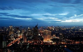 Skyline of Jakarta, capital of Indonesia, the largest Muslim-majority country in the world.