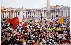 2.1 million people turned up to World Youth Day 2000 in Rome