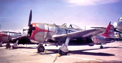 A 105th Fighter Squadron P-47N 45-49253, about 1948