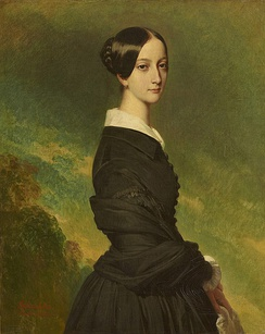 Portrait by Franz Xaver Winterhalter in 1844. Currently desplayed at the Palace of Versailles .