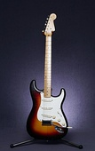 1958 Stratocaster with alder body, maple fingerboard and three-color sunburst finish