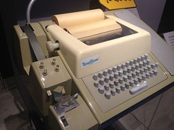 A Teletype Model 33 ASR teleprinter, with punched tape reader and punch, usable as a computer terminal