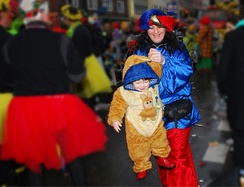 Aachen is also famous for its carnival (Karneval, Fasching), in which families dress in colourful costumes