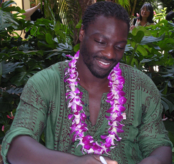 Akinnuoye-Agbaje at a Red Cross benefit at the Hilton Hawaiian Village, 28 February 2007