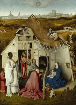 Adoration of the Magi after Hieronymus Bosch