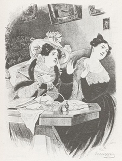 Illustration by Alexander Agin: The Simply Pleasant Lady and The Lady Who Is Pleasant In All Respects