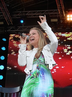 Anastacia performing in Germany (2014)