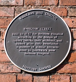 Barkham Street - wall plaque