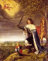 Frederik III during the battle of Nyborg. Painted by Wolfgang Heimbach, 1659. However Frederik III did not himself attend the battle, making this an effective piece of propaganda