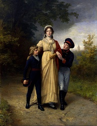Queen Louise of Prussia with her two eldest sons (later King Friedrich Wilhelm IV of Prussia and the first German Emperor Wilhelm I), circa 1808