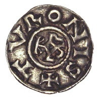 Denier from the era of Charlemagne, Tours, 793–812