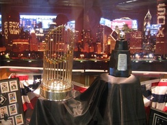 The White Sox' World Series Trophy on display at U.S. Cellular Field during the 2006 season