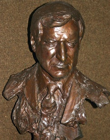 Bust of Dean Smith at the Dean Smith Center. Photo credit: Rob Goldberg