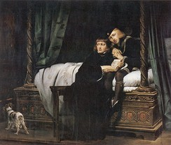 King Edward V and the Duke of York in the Tower of London by Paul Delaroche. The theme of innocent children awaiting an uncertain fate was a popular one amongst 19th-century painters.