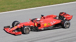 Ferrari (pictured with Sebastian Vettel) have competed in every season