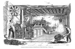 French sugar beet mill in operation in the 1840s