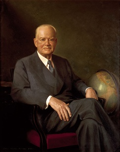 Hoover's official White House portrait by Elmer Wesley Greene