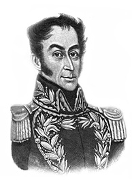 Venezuelan liberator Simón Bolívar, who led six nations into independence
