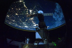 Night time astronaut image of the northern Gulf coast.