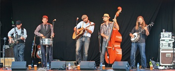 Double bass is a standard instrument in bluegrass groups.
