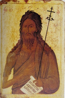 An icon of Saint John the Baptist, 14th century, North Macedonia