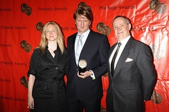 Laura Linney, Tom Hooper and David Coatsworth at the 68th Annual Peabody Awards for John Adams