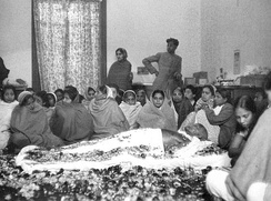 Mahatma Gandhi lying in state