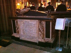 Memorial to John Hacket in Lichfield Cathedral