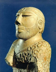 "The famous ""Priest-King"" statue of the Indus Valley Civilization is displayed at Karachi's National Museum of Pakistan."