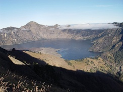 Lake Segara Anak on top of Mt. Rinjani