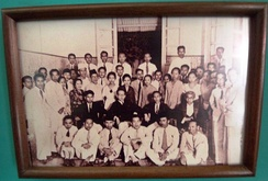 Perhimpunan Pelajar-Pelajar Indonesia (Indonesian Students Union) delegates in Youth Pledge, an important event where Indonesian language was decided to be the national language. 1928