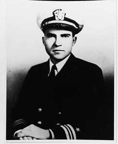 Lieutenant Commander Richard Nixon, United States Navy (circa 1945)