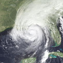 Hurricane Opal near landfall in Pensacola, Florida as a Category 3 hurricane