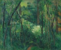 Paul Cézanne, Interior of a forest, c. 1885.
