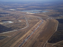 Red River Floodway from the air