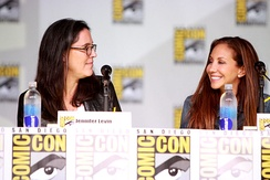 Jennifer Levin and Sherri Cooper-Landsman promoting the show at Comic-Con