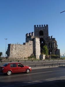 The Marble Tower, at the junction of the Propontis sea wall and the Theodosian Walls