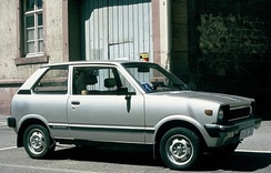 Suzuki Alto (SS80S), European market, note the big export bumpers and the 12-inch wheels.