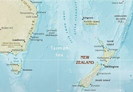 Tasman Sea, a marginal sea situated between Australia and New Zealand